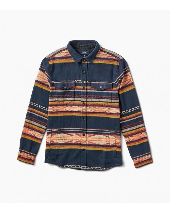Roark Aleutia Blanket Overshirt Long Sleeve Flannel - Navy