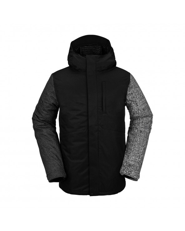 Volcom Snow 17Forty Insulated Jacket - Black Check