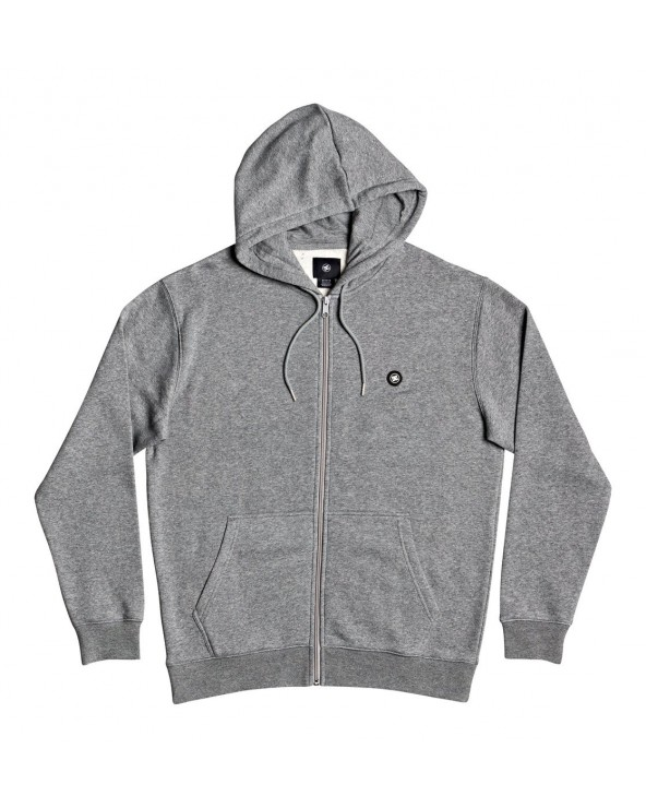 Dc Riot Zip-Up Hoodie - Medium Grey Heather