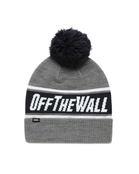Vans Off The Wall Pom Beanie - Heather Grey-Dress Blues