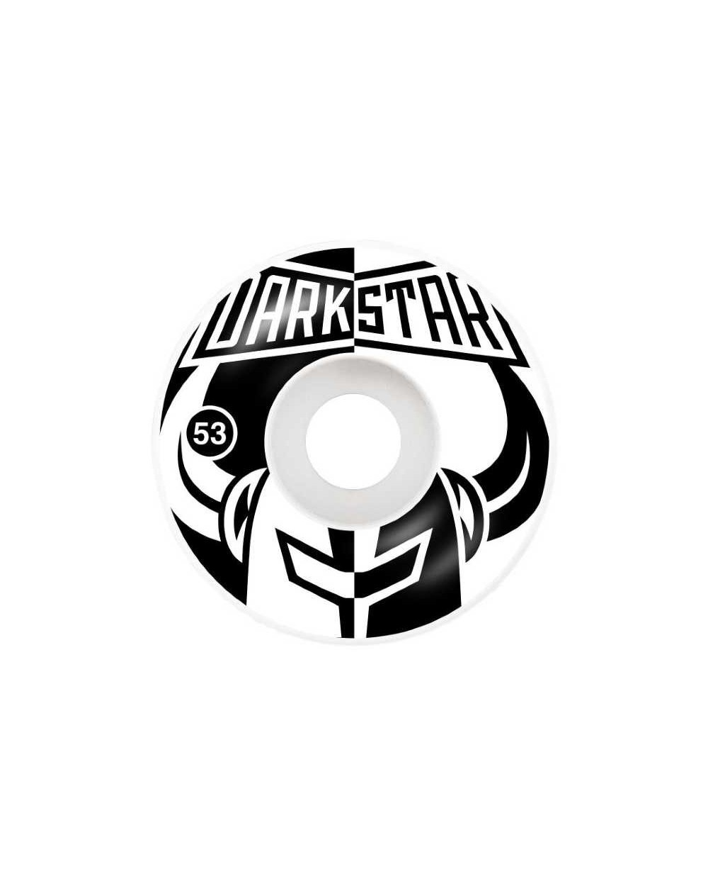 Darkstar Divide Black White Wheels - 53mm