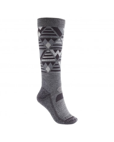 Burton Wms Performance Midweight Snowboard Socks - Gray Heather
