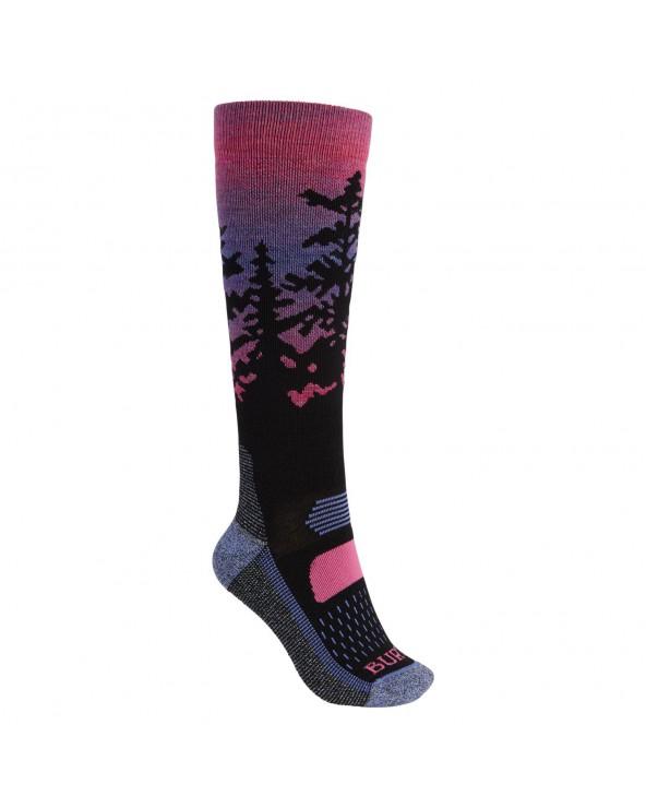 Burton Wms Performance Midweight Snowboard Socks - Sunrise