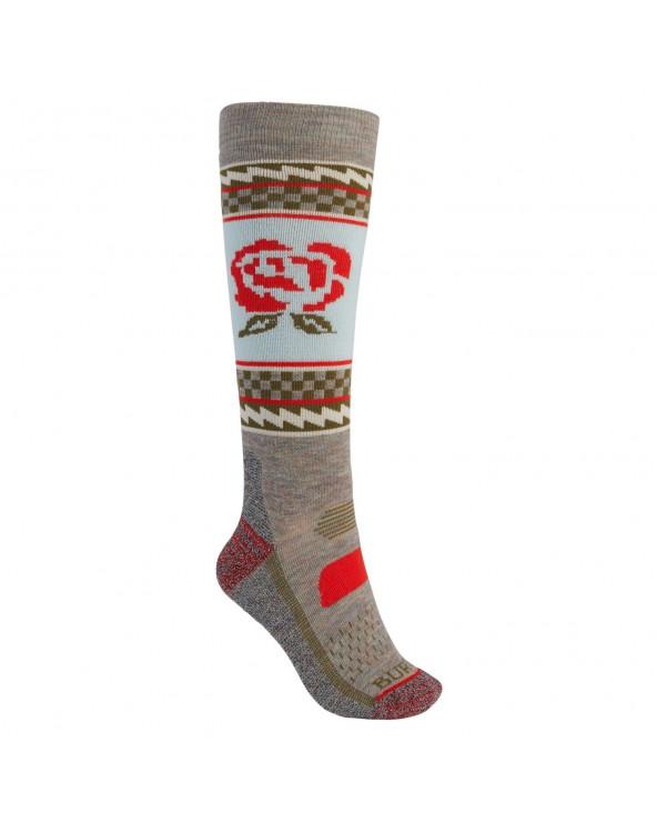 Burton Wms Performance Midweight Snowboard Socks - Creme Brulee