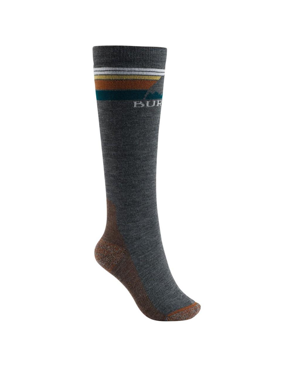 Burton Wms Emblem Midweight Snowboard Socks - True Black