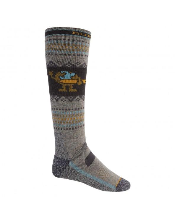 Burton Performance Midweight Snowboard Socks - Oatmeal Heather