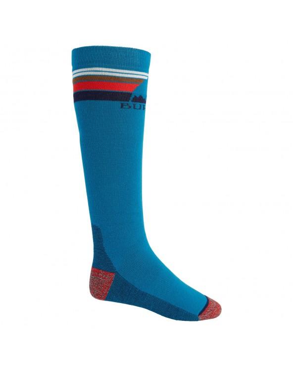 Burton Emblem Midweight Snowboard Socks - Bay Blue