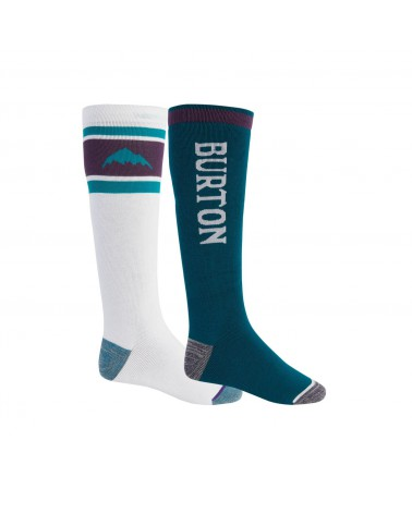 Burton Weekend Midweight Sock 2-Pack - Stout White / Dynasty Green
