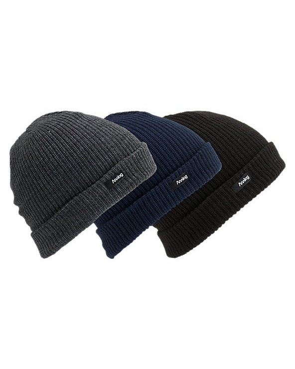 Analog Beanie 3-Pack - True Black / Eclipse / Heathers