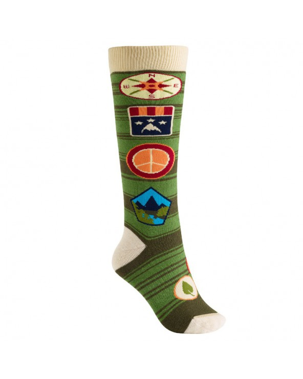 Burton Women's Party Snowboard Sock - Patches