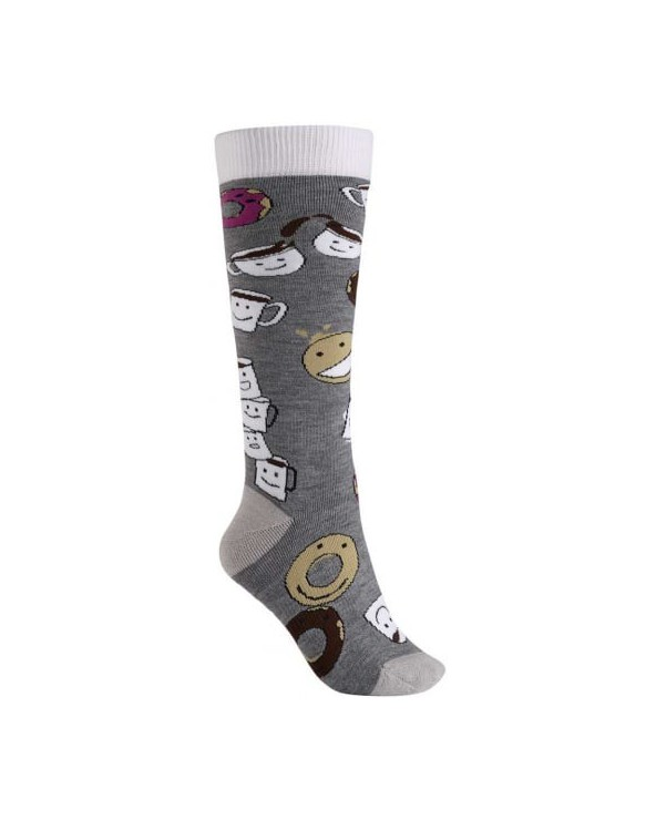 Burton Women's Party Snowboard Sock - Coffee and Donuts