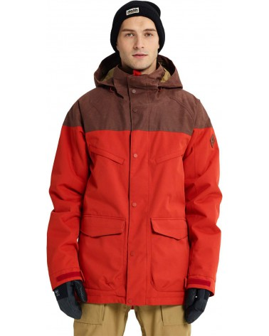Burton Breach Insulated Jacket - Bitters / Chestnut Waxed